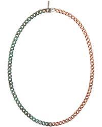 KOZABURO Collier en cuivre Half Rusted - Noir
