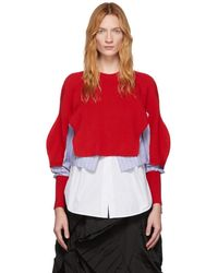 Enfold Red Layered Sweater