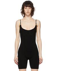 Jacquemus ブラック Le Body Short ボディスーツ