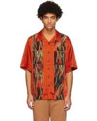 Vivienne Westwood オレンジ フレーム プリント フランシス シャツ