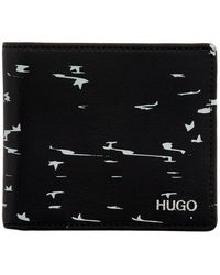 HUGO Black Stardust Bifold Wallet