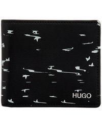 HUGO - ブラック Stardust バイフォールド ウォレット - Lyst