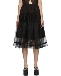 Renli Su Ssense Exclusive Black Tiered Skirt