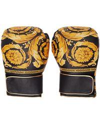Versace ブラック Barocco ボクシング グローブ - マルチカラー