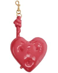Anya Hindmarch - Red Chubby Heart Charm Keychain - Lyst
