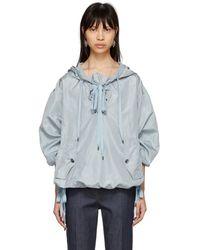 Bottega Veneta - Blue Silk Taffeta Jacket - Lyst