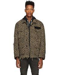 R13 Beige Leopard Jacket - Multicolor