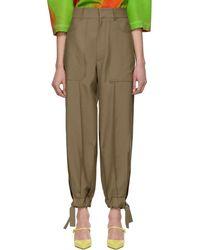Loewe Beige Balloon Trousers - Natural