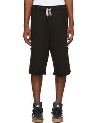 Opening Ceremony - Black Oversized Sweat Shorts - Lyst