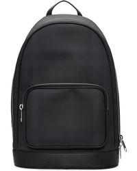 Burberry Black London Check Backpack