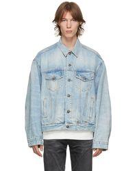 R13 ブルー デニム オーバーサイズ トラッカー ジャケット