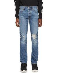 Unravel Project Indigo Vintage Chaos Jeans - Blue