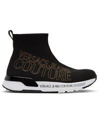 Versace Jeans Couture Baskets Dynamic noires à logo