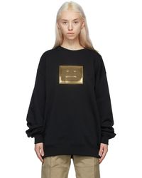 Acne Studios ブラック & ゴールド スウェットシャツ