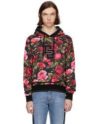 Dolce & Gabbana - Pink Rose Hoodie - Lyst
