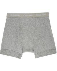 Calvin Klein - マルチカラー コットン ボクサー ブリーフ 3 枚セット - Lyst