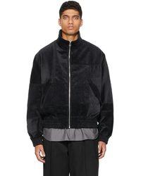 Kuro Corduroy Patchwork Jacket - Black