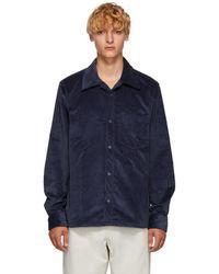 Acne Studios - Blue Corduroy Shirt - Lyst