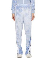 Palm Angels Blue Chenille Lounge Pants