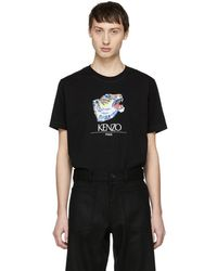 c5dc7245 KENZO Black Actua Tiger T-shirt in Black for Men - Lyst