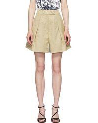 Erdem Tan Howard Tailored Shorts - Natural