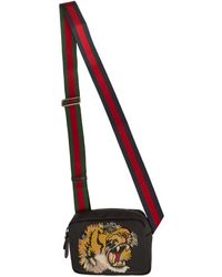 Gucci Black Tiger Messenger Bag
