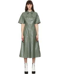 Stand Studio Robe en cuir synthétique verte Nahara