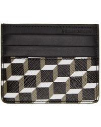Pierre Hardy Black Perspective Cube Card Holder
