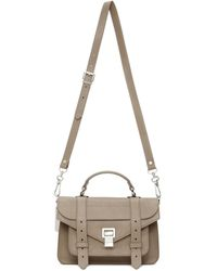 Proenza Schouler Taupe Tiny Ps1 Bag - Multicolor