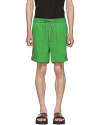 Gucci Green Logo Tape Shorts