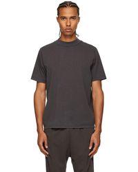 Les Tien T-shirt épais à col cheminée - Gris