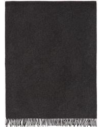 A.P.C. - Grey Large Polska Scarf - Lyst