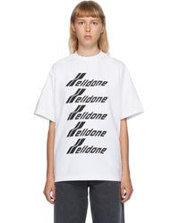 we11done ホワイト フロント ロゴ T シャツ