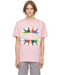 Gucci - Pink Interlocking G Star Burst T-shirt - Lyst
