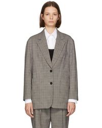 3.1 Phillip Lim - Black And White Check Oversized Blazer - Lyst
