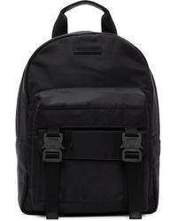 1017 ALYX 9SM ブラック ダブル フロント ポケット バックパック