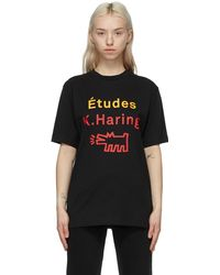 Etudes Studio T-shirt noir Wonder Barking Dog édition Keith Haring