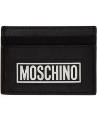 Moschino ブラック ロゴ カード ケース