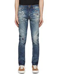 Nudie Jeans - ブルー Worn Lean Dean ジーンズ - Lyst