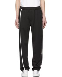 Helmut Lang - Black And White Sport Striped Track Trousers - Lyst