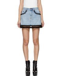 Marc Jacobs - Indigo Denim Pom Pom Miniskirt - Lyst