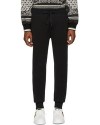 Dolce & Gabbana ブラック ロゴ プレート スウェットパンツ
