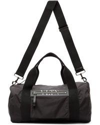Valentino Garavani コレクション ブラック Vltn ミディアム ボストン ダッフル バッグ
