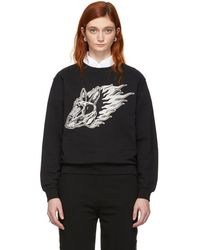 McQ - Black Metallic Bunny Sweatshirt - Lyst