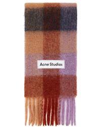 Acne Studios Alpaca & Mohair Large Check Scarf - Multicolour