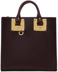 Sophie Hulme | Burgundy Square Albion Tote | Lyst