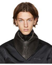 1017 ALYX 9SM Black Leather Chain Bandana