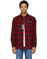 DIESEL - Black And Red S-miller Patch Shirt - Lyst