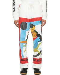 BETHANY WILLIAMS White The Magpie Project Edition Flag Print Popper Lounge Trousers - Multicolour