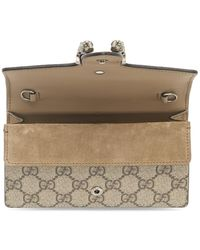 Gucci Beige GG Supreme Super Mini Dionysus Bag - Brown